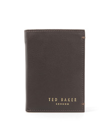 Ted Baker Mens Brown Core Mini Card Leather Wallet