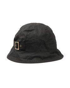 Barbour Lifestyle Womens Black Wax New Trench Hat