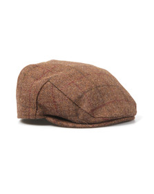 Barbour Lifestyle Mens Brown Moons Tweed Cap
