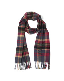 Barbour Lifestyle Womens Blue Vintage Winter Plaid Scarf