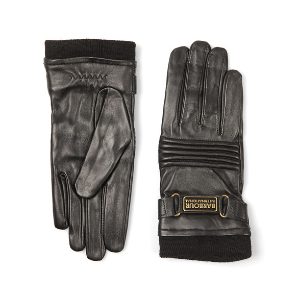 Barbour International Womens Black Stainforth Leather Glove main image
