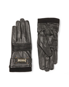 Barbour International Womens Black Stainforth Leather Glove