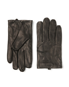 Gant Mens Black Fitted Leather Gloves