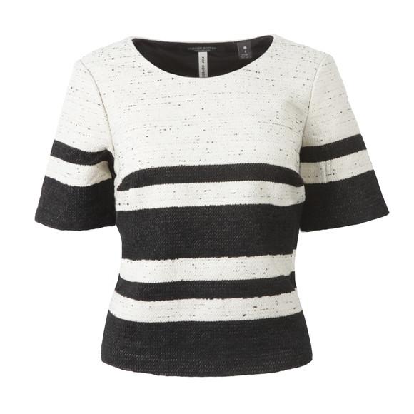 Maison Scotch Womens Black Boxy Fit Top With Stripes main image