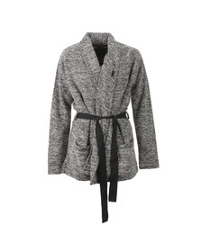 Maison Scotch Womens Black Wrapover Blazer With A Belt
