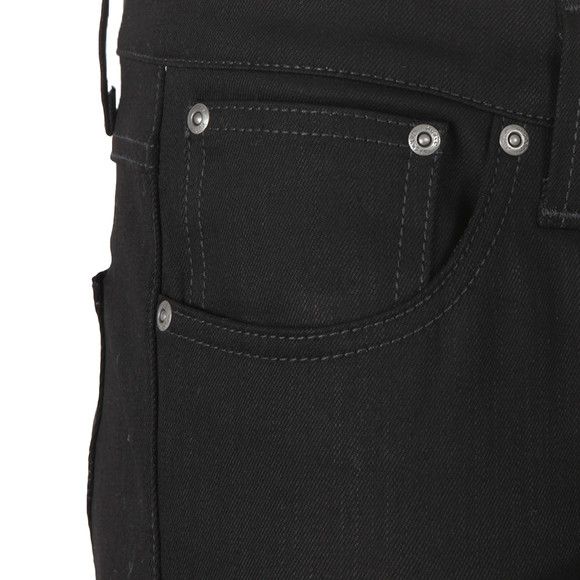 Nudie Jeans Mens Black Lean Dean Jean main image