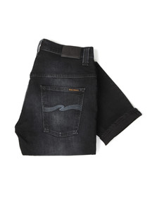 Nudie Jeans Mens Black Thin Finn Dry Stretch Jean