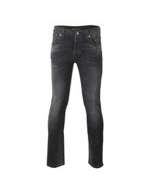 Nudie Jeans Mens Black Grim Tim Jeans