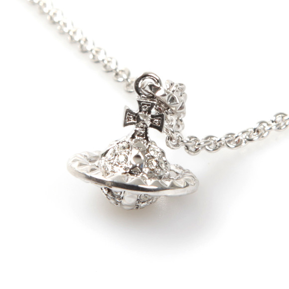 Vivienne Westwood Womens Silver Mayfair 3D Small Orb Pendant main image