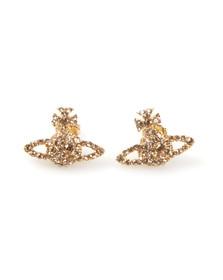 Vivienne Westwood Womens Gold Grace Bas Relief Stud Earring