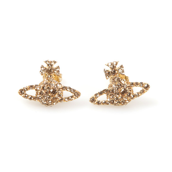 Vivienne Westwood Womens Gold Grace Bas Relief Stud Earring main image