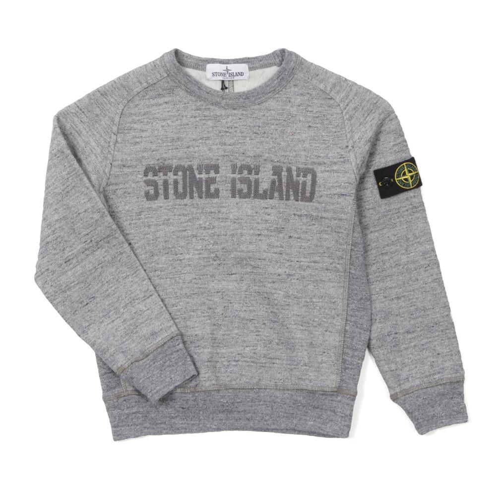 fd824f8ffca69 Stone Island Junior Stitch Chest Sleeve Badge Sweatshirt