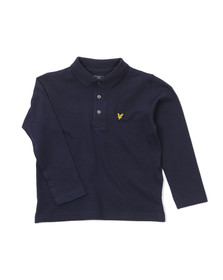 Lyle And Scott Junior Boys Blue Classic Long Sleeve Polo Shirt