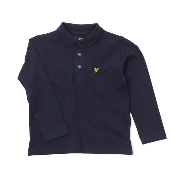Lyle And Scott Junior Boys Blue Classic Long Sleeve Polo Shirt main image