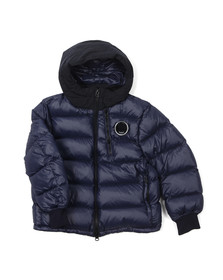 CP Company Undersixteen Boys Blue Down Chest Viewfinder Jacket