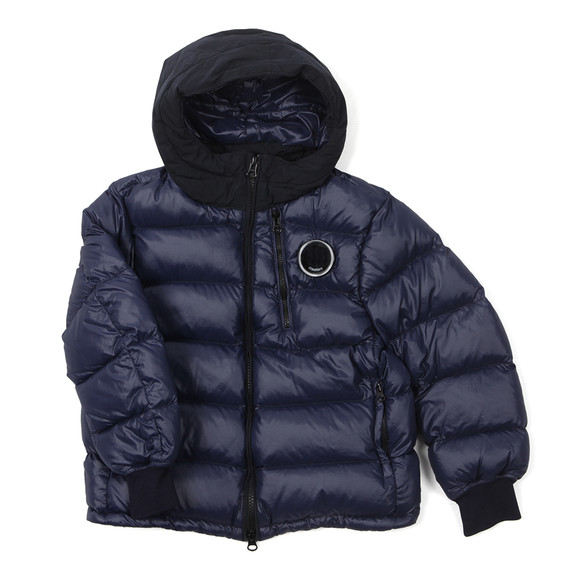 CP Company Undersixteen Boys Blue Down Chest Viewfinder Jacket main image