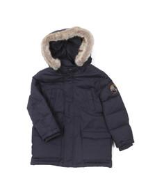 Armani Junior  Boys Blue B4L02 Fur Hood Down Jacket