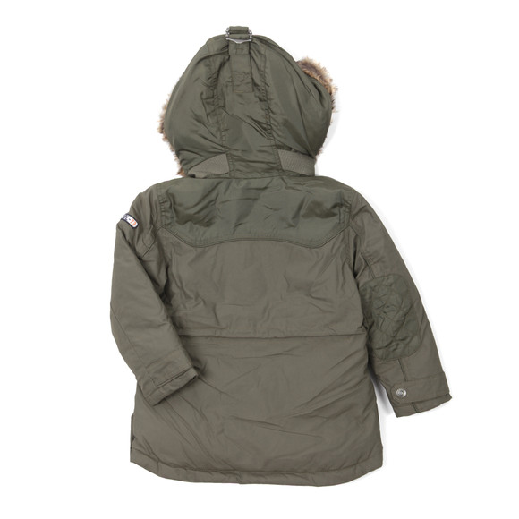 Timberland Boys Green Boys T26402 Hooded Parka main image