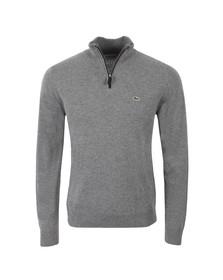 Lacoste Mens Grey Half Zip Wool Jumper