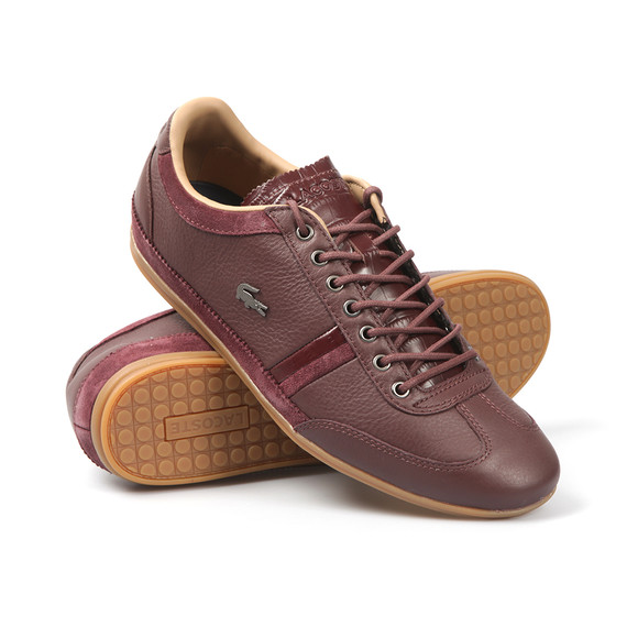 Lacoste Mens Brown Misano 36 Trainers main image