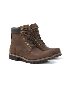 Timberland Mens Brown Rugged 6 inch Plain Boot