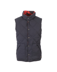 Scotch & Soda Mens Blue Reversible Quilted Bodywarmer