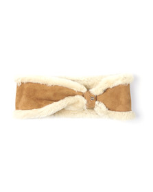 Ugg Womens Brown Shearling Carter Headband