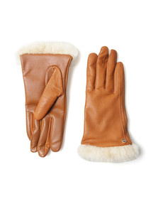 Ugg Womens Brown Classic Smart Leather Glove
