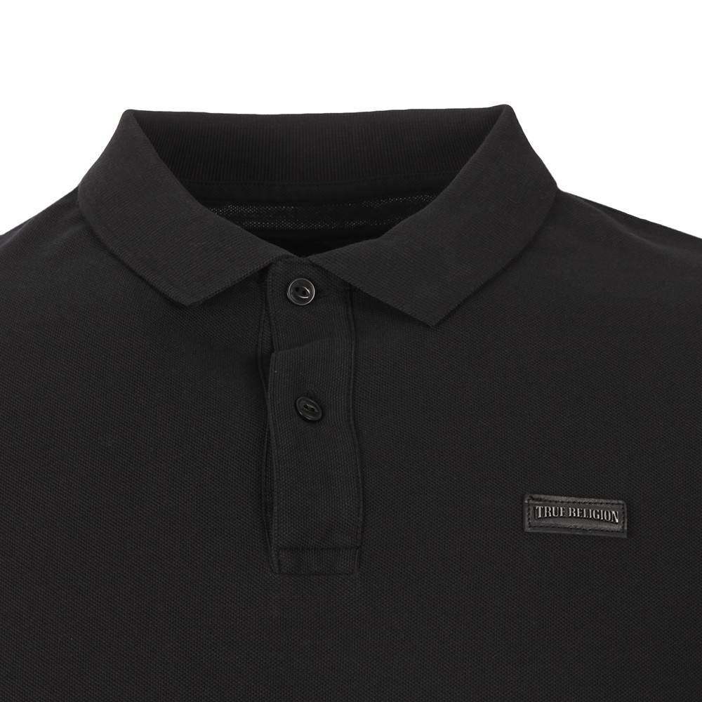 Long Sleeve Leather Badge Polo Shirt main image