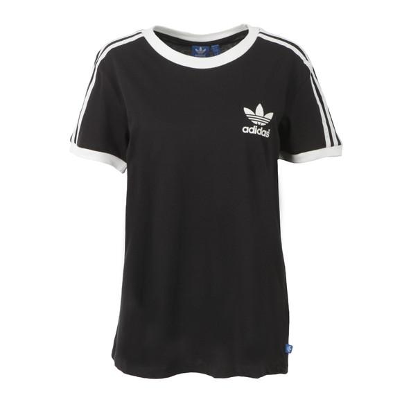 Adidas Originals Womens Black 3 Stripes T Shirt main image
