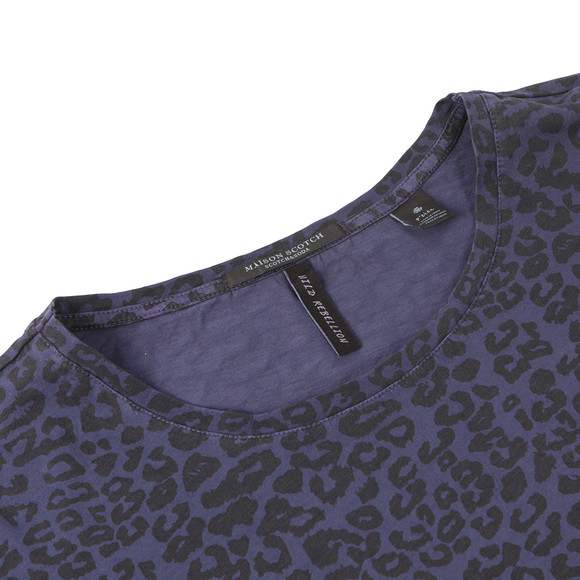 Maison Scotch Womens Blue Relaxed Fit Top  main image