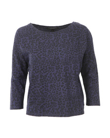 Maison Scotch Womens Blue Relaxed Fit Top