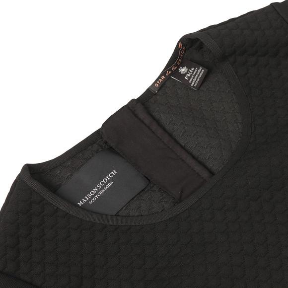 Maison Scotch Womens Black Jacquard Sweat Dress main image