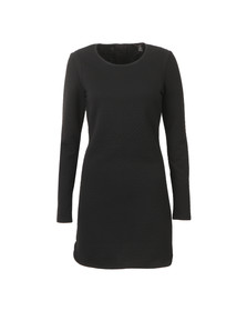 Maison Scotch Womens Black Jacquard Sweat Dress