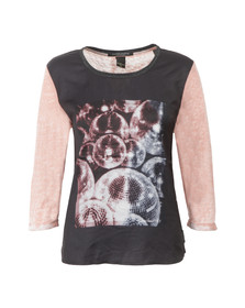 Maison Scotch Womens Pink Photoprinted Burnout Top