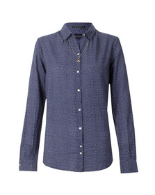 Maison Scotch Womens Blue All Over Printed Woven Shirt