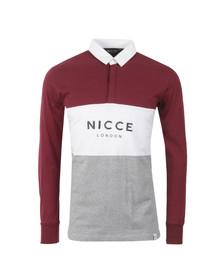 Nicce Mens Multicoloured Triple Panel Long Sleeve Polo Shirt