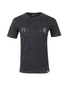 Nicce Mens Blue Nocturne Ink T Shirt