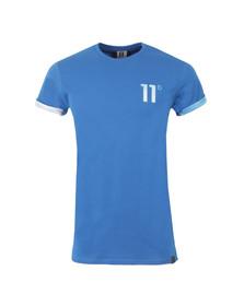 Eleven Degrees Mens Blue Blue Geo Logo T Shirt