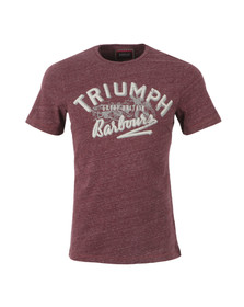Barbour International Triumph Mens Red InJector Single T-Shirt