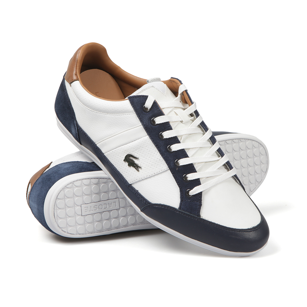 23b85723f1 Mens White Chaymon Leather Trainer