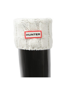 Hunter Womens Beige Original Short 6 Stitch Cable Boot Sock
