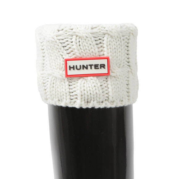 Hunter Womens Grey Original Short 6 Stitch Cable Boot Sock main image