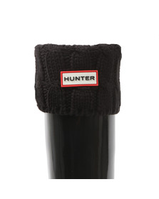 Hunter Womens Black Original Tall 6 Stitch Cable Boot Sock