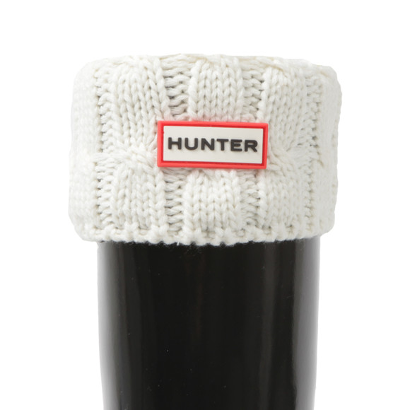 Hunter Womens Grey Original Tall 6 Stitch Cable Boot Sock main image