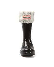 Hunter Unisex Grey Original Kids Six Stitch Cable Boot Sock