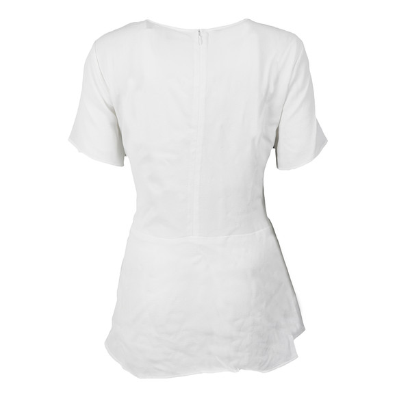 Michael Kors Womens White Peplum Top main image