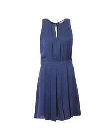 Michael Kors Womens Blue Pleated A Line Dress