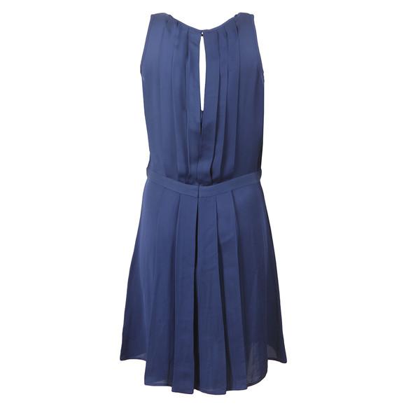 Michael Kors Womens Blue Pleated A Line Dress main image
