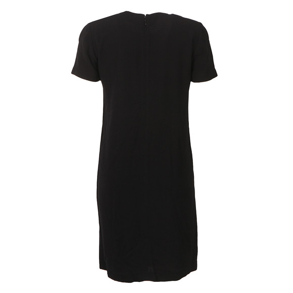 Michael Kors Womens Black Hardware Neck Dress main image